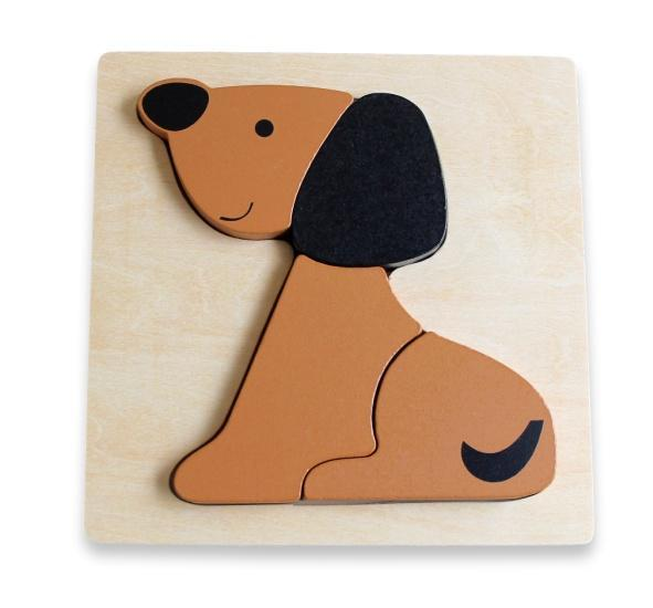 The Kids Store-DISCOVEROO CHUNKY PUZZLE - DOG-