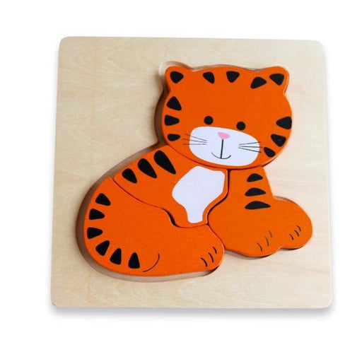 The Kids Store-DISCOVEROO CHUNKY PUZZLE - TIGER-