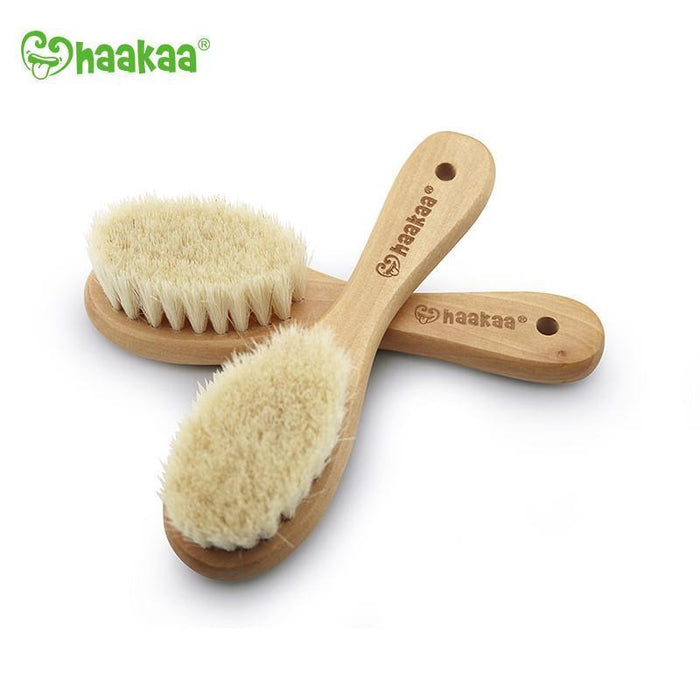 The Kids Store-HAAKAA GOATS WOOL WOODEN BABY HAIR BRUSH-