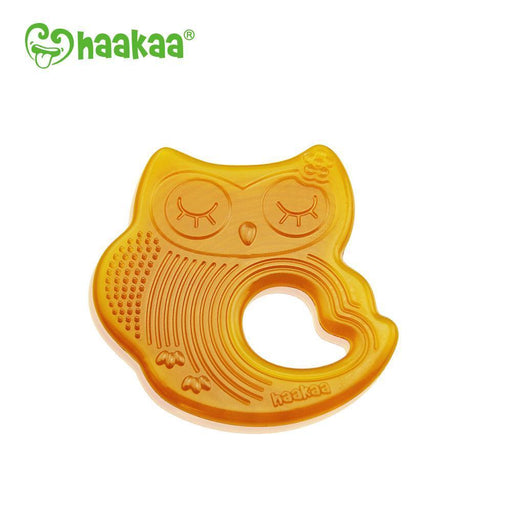 The Kids Store-HAAKAA NATURAL OWL SLEEPING TEETHER-