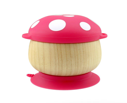 The Kids Store-HAAKAA WOODEN MUSHROOM BOWL - RED-