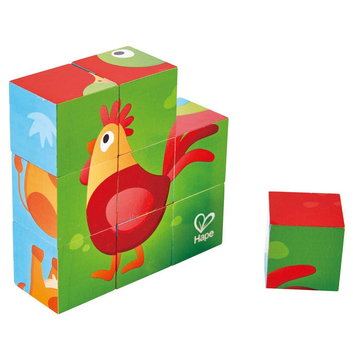 The Kids Store-HAPE FARM ANIMAL BLOCK PUZZLE-