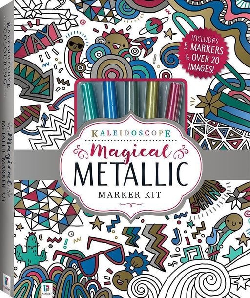 The Kids Store-HINKLER KALEIDOSCOPE COLOURING MAGICAL METALLIC MARKER KIT-