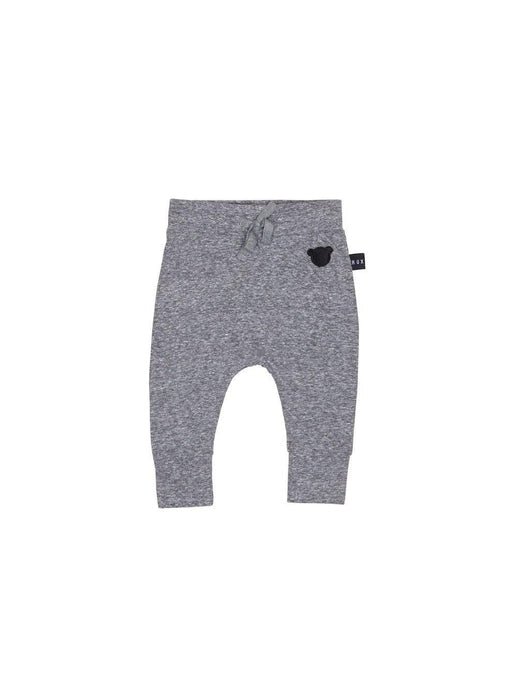 The Kids Store-HUXBABY CHARCOAL SLUB DROP CROTCH PANT-