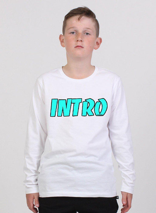 The Kids Store-INTRO L/SLEEVE MINI START TEE - WHITE-