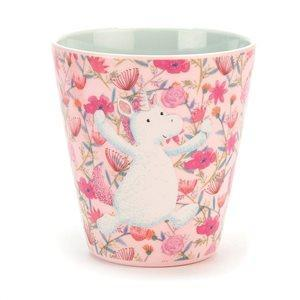 The Kids Store-JELLY CAT UNICORN DREAMS MELAMINE CUP-