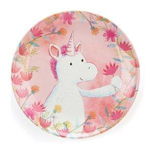 The Kids Store-JELLYCAT UNICORN DREAMS MELAMINE PLATE-