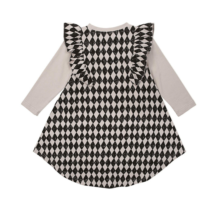 The Kids Store-KAPOW KIDS HARLEQUIN TWIRLING DRESS-