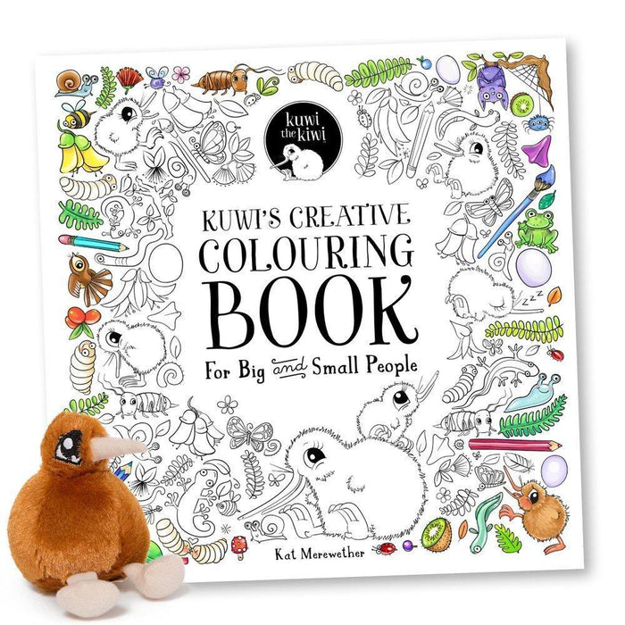 The Kids Store-KUWI THE KIWI CREATIVE COLOURING BOOK-