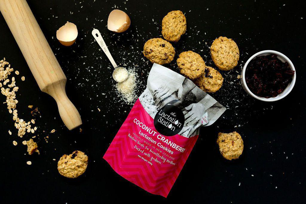 The Kids Store-LACTATION STATION DAIRY FREE COOKIES - COCONUT CRANBERRY-