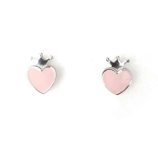 The Kids Store-LAUREN HINKLEY EARRINGS - PINK CROWN-