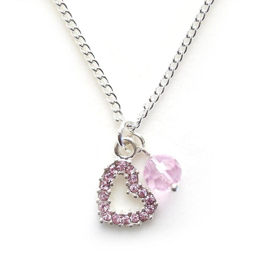 The Kids Store-LAUREN HINKLEY NECKLACE - PINK HEART-