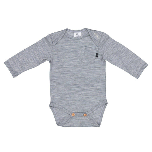 The Kids Store-LFOH MERINO BASICS BODYSUIT - GREY MARLE-