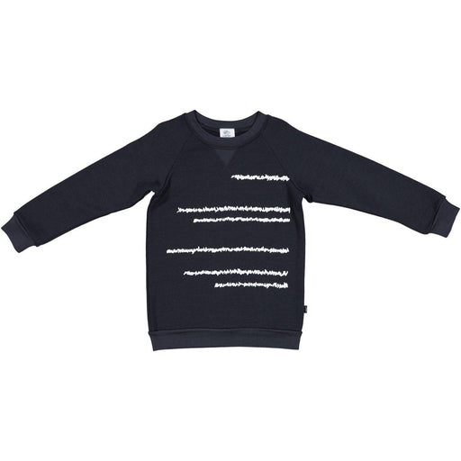 The Kids Store-LFOH MERINO BEATNIK CREW - GRAPHITE-