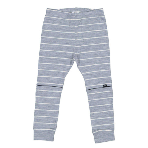 The Kids Store-LFOH MERINO SLASHER LEGGINGS - GREY MARLE STRIPE-