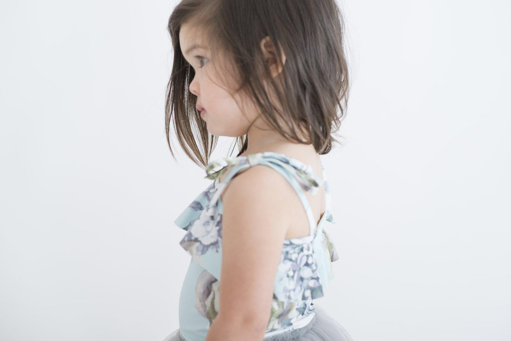 The Kids Store-LITTLE HEARTS BANDEAU LEOTARD - MINT ROSE-