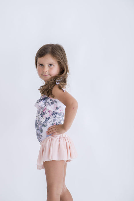 The Kids Store-LITTLE HEARTS BANDEAU LEOTARD - PINK ROSE-