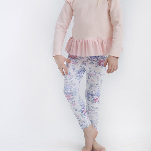 The Kids Store-LITTLE HEARTS LEGGINGS - WHITE PEONY-