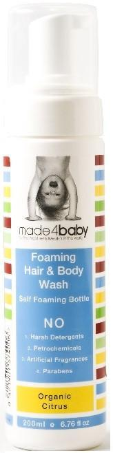 The Kids Store-MADE4BABY FOAMING HAIR AND BODY WASH - ORGANIC CITRUS-
