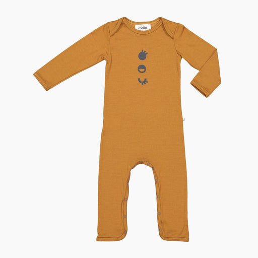 The Kids Store-MELLO MERINO ONESIE - MUSTARD-