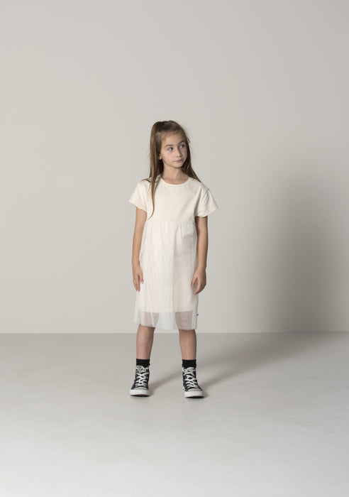 The Kids Store-MINTI A LITTLE BIT SPECIAL DRESS - CREAM-