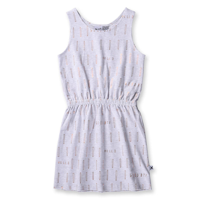 The Kids Store-MINTI STICKS TANK DRESS WHITE MARLE-