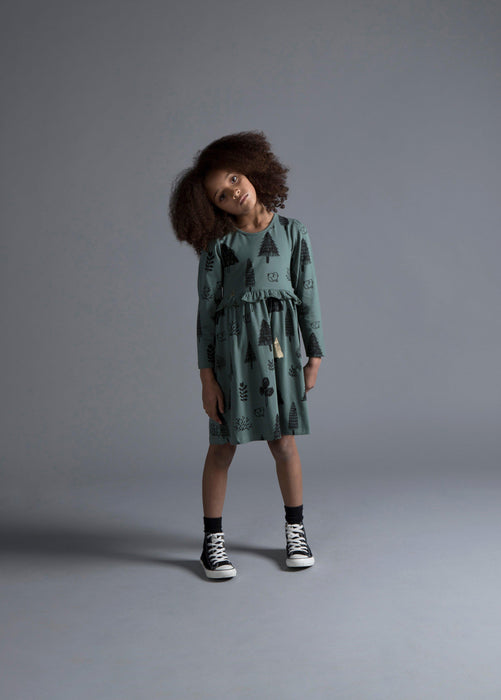 The Kids Store-MINTI TREES & BUNNIES DRESS-