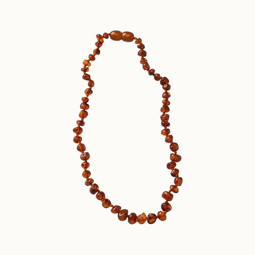 The Kids Store-NATURE BABY AMBER TEETHING NECKLACE - COGNAC-