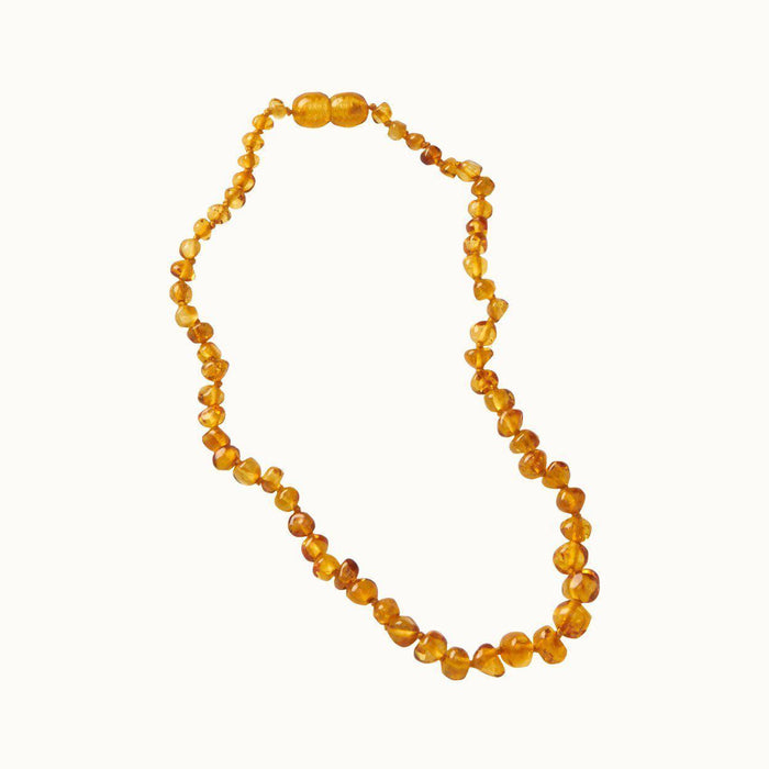 The Kids Store-NATURE BABY AMBER TEETHING NECKLACE - HONEY-