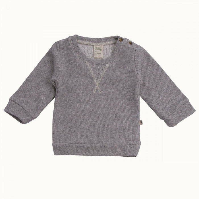 The Kids Store-NATURE BABY EMERSON SWEATER - GREY MARL-