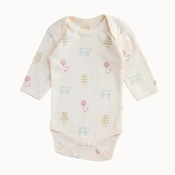 The Kids Store-NATURE BABY LONG SLEEVE BODYSUIT - NATURE BABY PRINT-