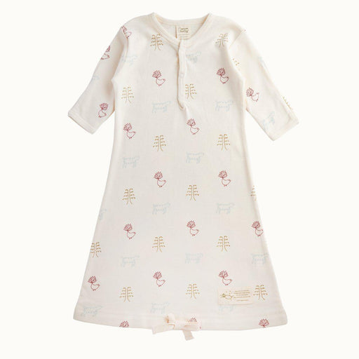 The Kids Store-NATURE BABY ORGANIC COTTON SLEEPING GOWN - NATURE BABY PRINT-