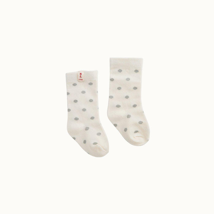 The Kids Store-NATURE BABY ORGANIC COTTON SOCKS - GREY POLKA DOT-