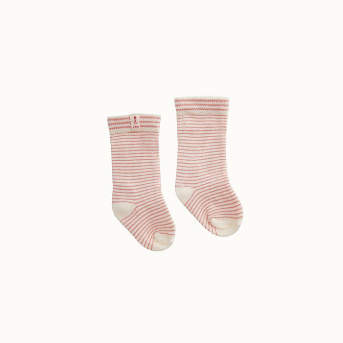 The Kids Store-NATURE BABY ORGANIC COTTON SOCKS - PINK STRIPE-
