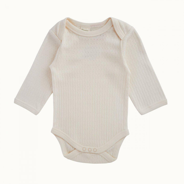 The Kids Store-NATURE BABY POINTELLE L/SLEEVE BODYSUIT-