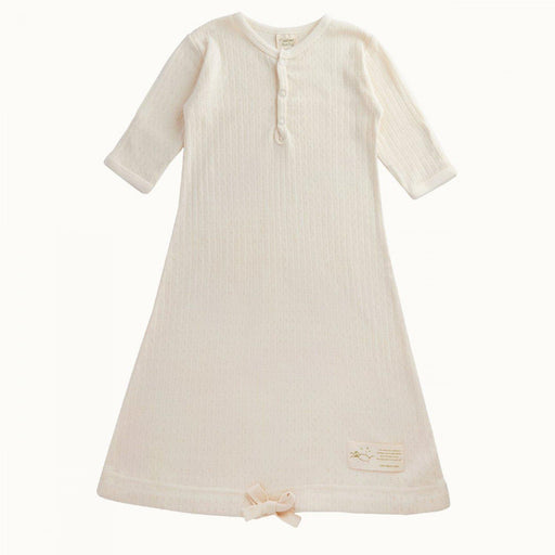 The Kids Store-NATURE BABY POINTELLE SLEEPING GOWN - NATURAL-