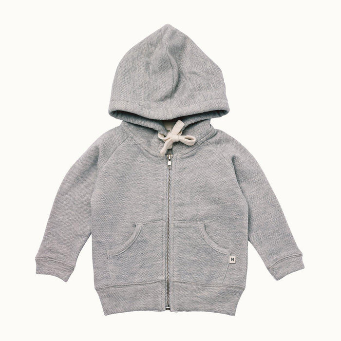 The Kids Store-NATURE BABY SWEATSHIRT HOODIE - GREY MARLE-