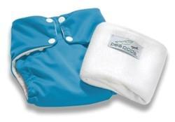 The Kids Store-PEAPODS REUSABLE NAPPY - AQUA BLUE-