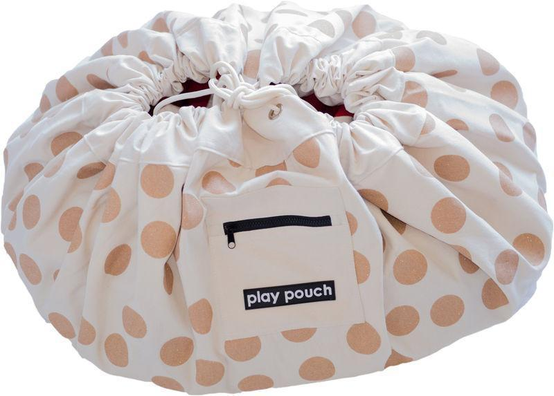 The Kids Store-PLAY POUCH - GLITTER GOLD DOTS-