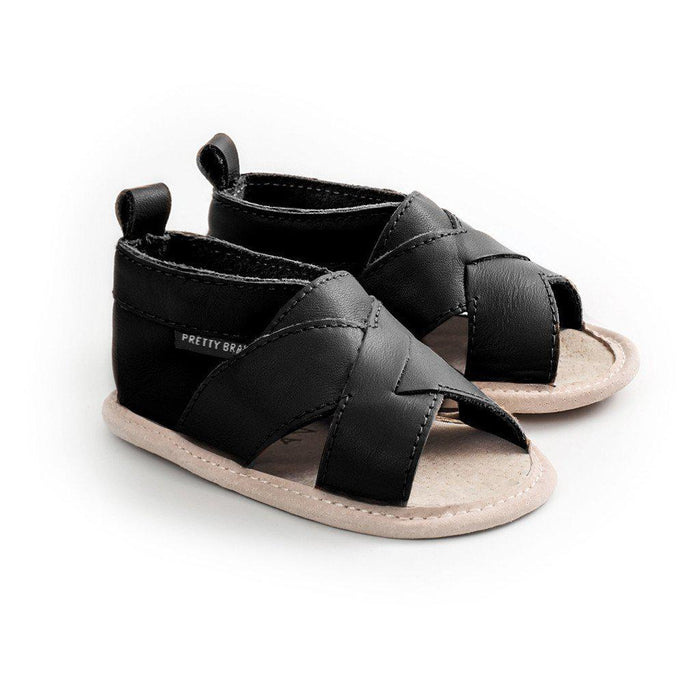 The Kids Store-PRETTY BRAVE CROSS-OVER SANDAL - BLACK-