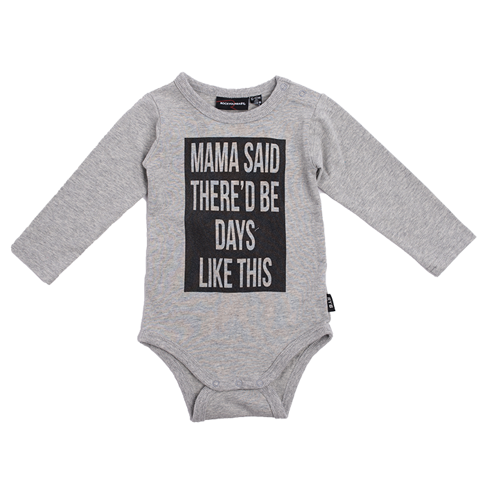 The Kids Store-ROCK YOUR BABY MAMA SAID BODYSUIT-