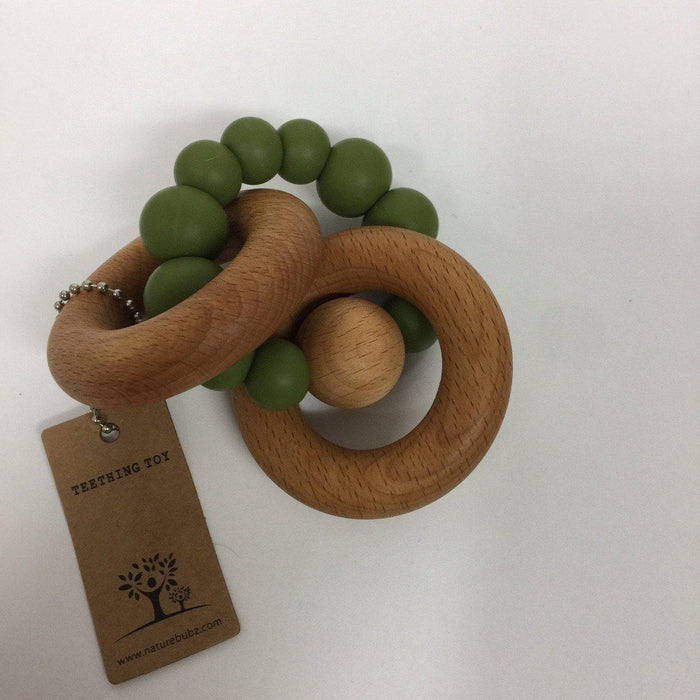 The Kids Store-SCANDI TEETHING RATTLE - OLIVE-