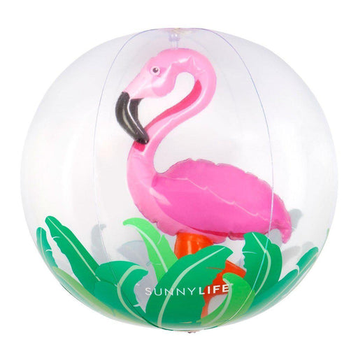 The Kids Store-SUNNYLIFE 3D INFLATABLE BALL - FLAMINGO-