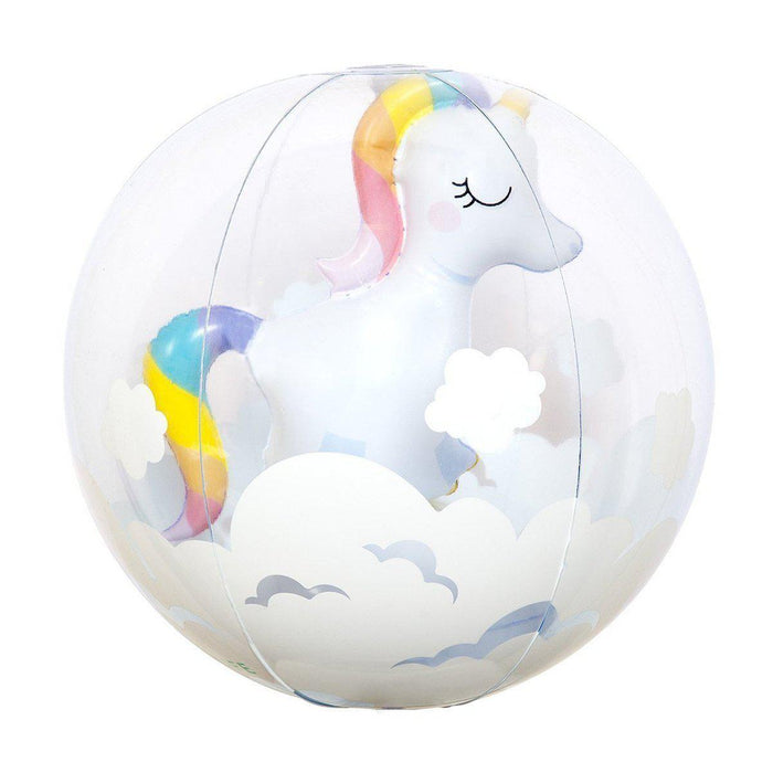 The Kids Store-SUNNYLIFE 3D INFLATABLE BALL - UNICORN-