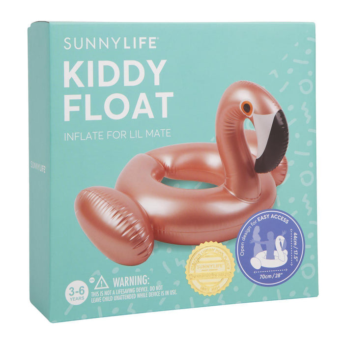 The Kids Store-SUNNYLIFE KIDDY FLOAT - ROSE GOLD FLAMINGO-