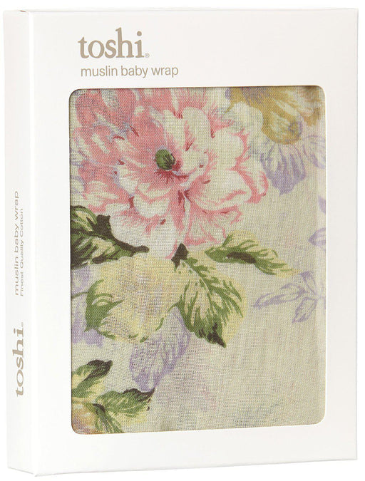 The Kids Store-TOSHI DESIGN MUSLIN WRAP - FLORAL MINT-OSFA-