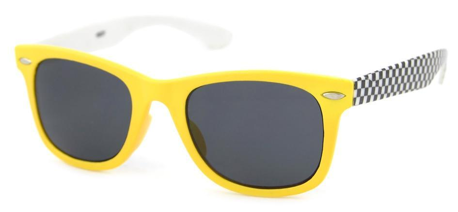 The Kids Store-UNITY KIDS SUNGLASSES - YELLOW/CHECK PRINT-
