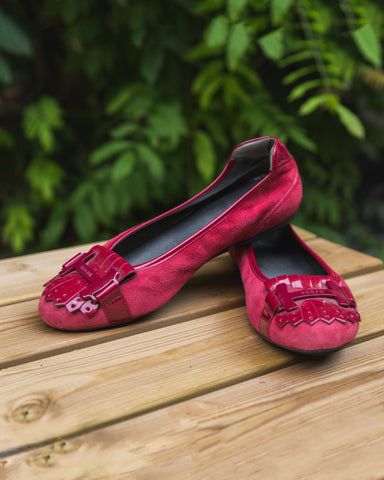 Ballerines rouges - pointure 37