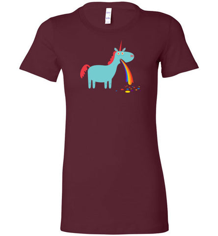 Puking Rainbow Unicorn - Women's T-Shirt