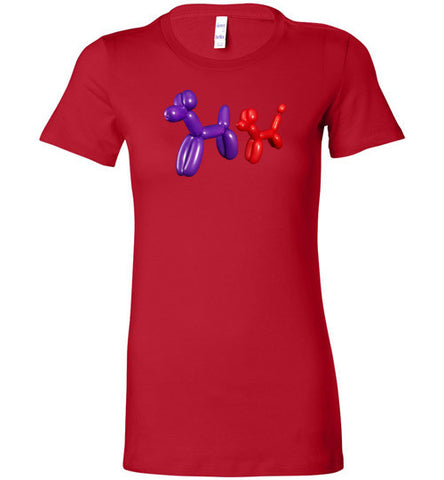 Balloon Animals Dogs Sniffing - Women's T-Shirt